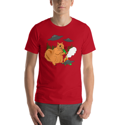 Squirrel vs Aliens - Short-Sleeve Unisex T-Shirt