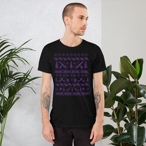 Squid (Purple ink) - Premium Short-Sleeve Unisex T-Shirt