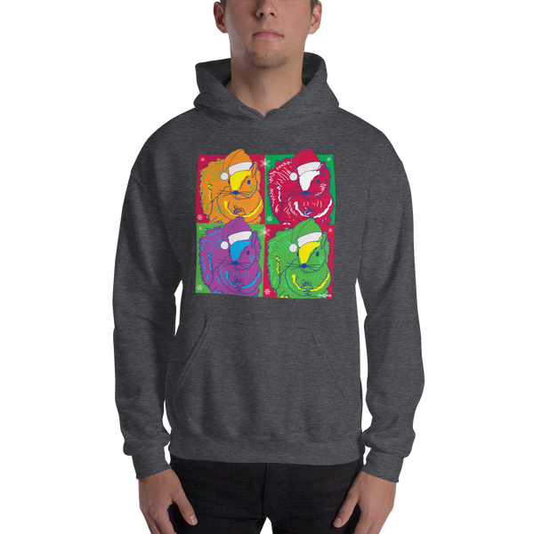 Holiday Pop Art Squirrels - Unisex Hoodie