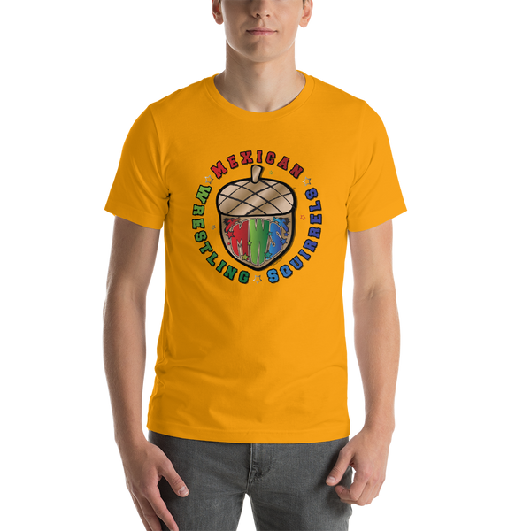 Mexican Wrestling Squirrels Logo - Short-Sleeve Unisex T-Shirt