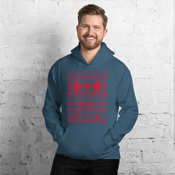 Squirrel (red ink) - Unisex Hoodie