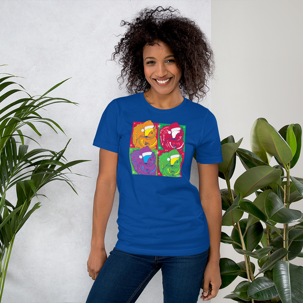 Holiday Pop Art Squirrels - Short-Sleeve Unisex T-Shirt - 2020