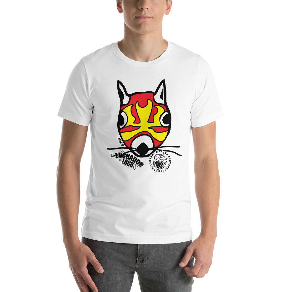 Paco Head - Mexican Wrestling Squirrels - Short-Sleeve Unisex T-Shirt