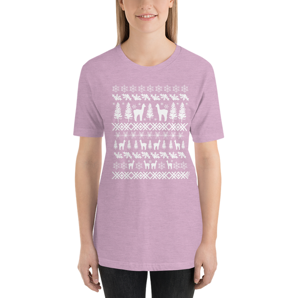 Alpacas (white ink) - Premium Short-Sleeve Unisex T-Shirt
