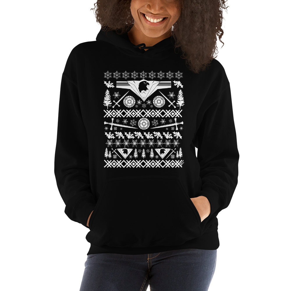 Warrior (white ink) - Unisex Hoodie