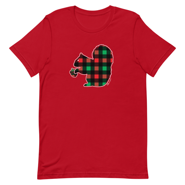 Plaid Squirrel - Short-Sleeve Unisex T-Shirt