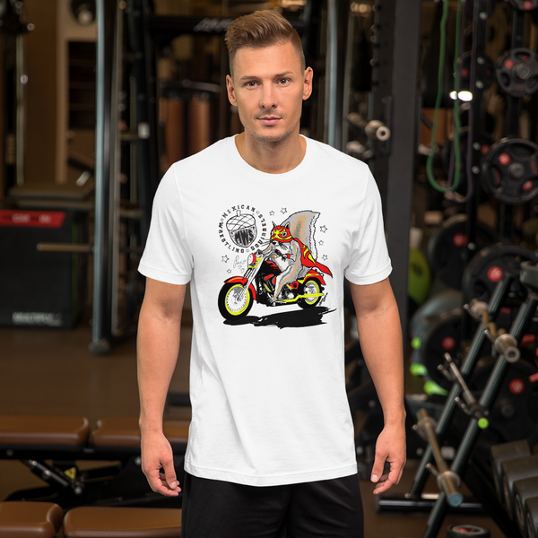 Paco Motorbike - Mexican Wrestling Squirrels - Short-Sleeve Unisex T-Shirt