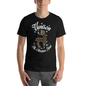Venison, The Christmas Meat - Premium Short-Sleeve Unisex T-Shirt
