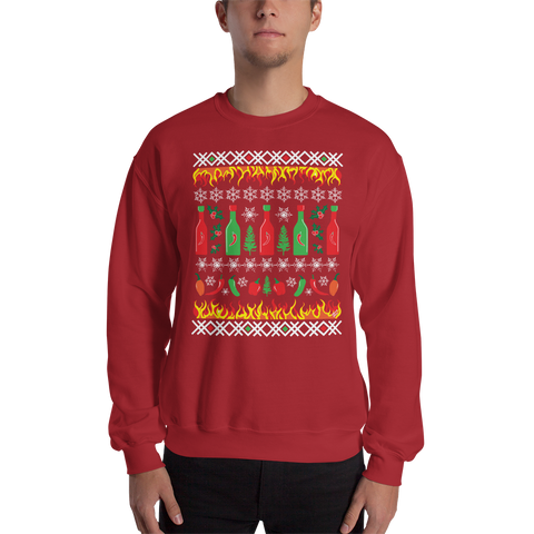 Hot Sauce Holiday Unisex Sweatshirt