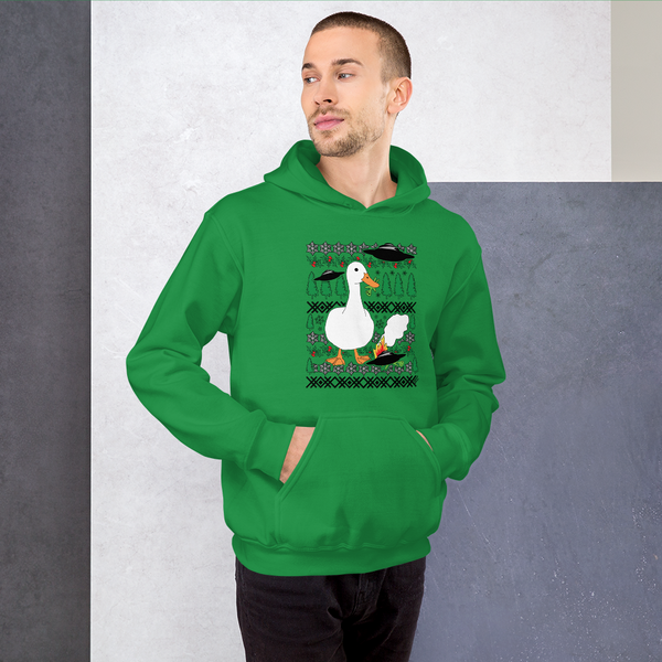Christmas Duck vs Aliens - Unisex Hoodie