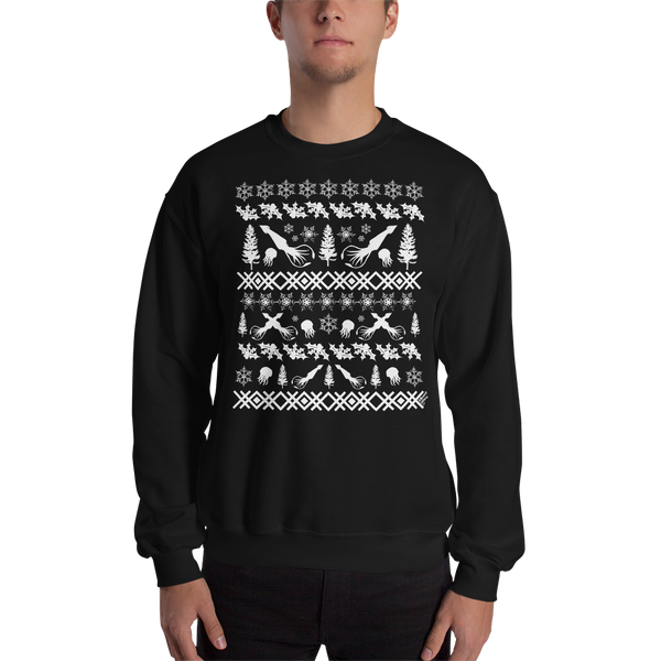 Squid (white ink) - Unisex Sweatshirt