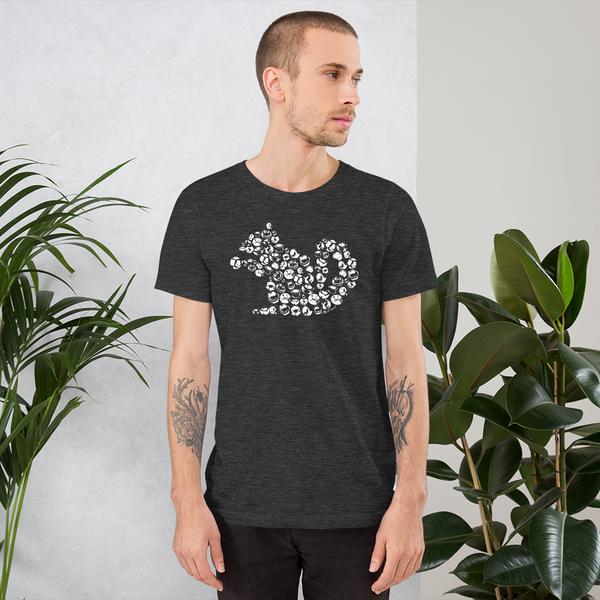 Squirrel made of nuts - Short-Sleeve Unisex T-Shirt (white ink)