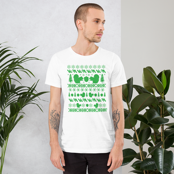 Squirrel (green ink) - Premium Short-Sleeve Unisex T-Shirt
