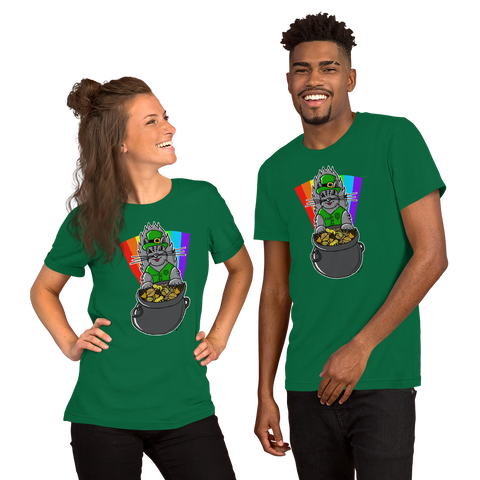 St. Patty's Day Squirrel - Short-Sleeve Unisex T-Shirt