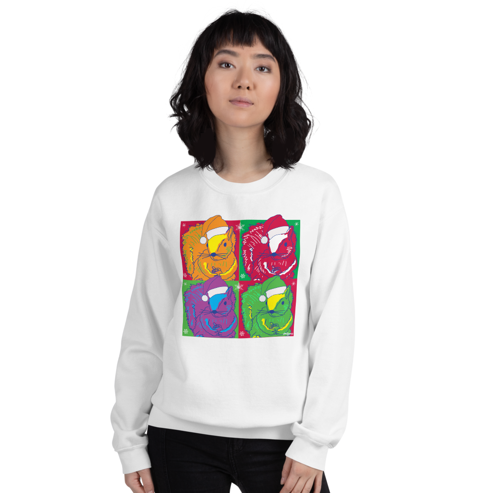 Holiday Pop Art Squirrels - Unisex Sweatshirt