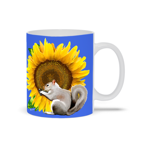 Sunflower Squirrel 11 oz. Mug