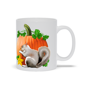 Pumpkin Squirrel 11 oz. Mug