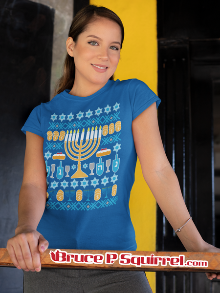 "Hanukkah Royal Blue ""Ugly Sweater"" 2020 -  Short-Sleeve Unisex T-Shirt"