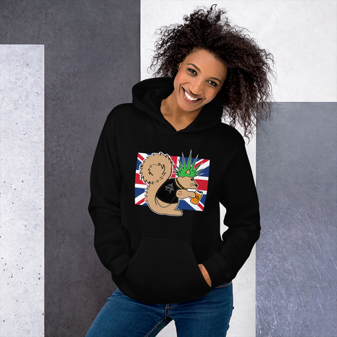 British Punk Squirrel- Unisex Hoodie