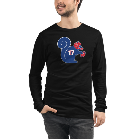 Buffalo Bills Football Squirrel 17 - Unisex Long Sleeve Tee