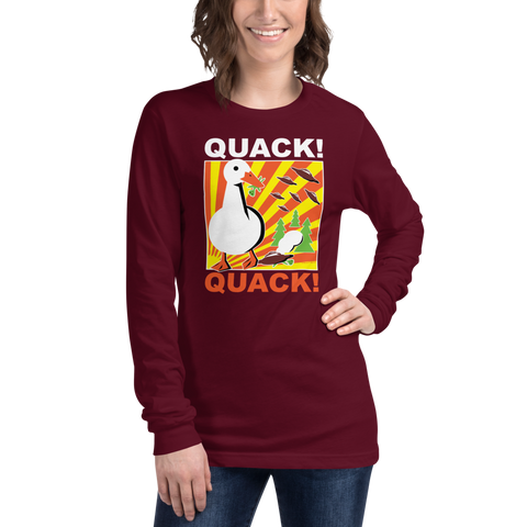 Duck vs. Aliens Propaganda Poster - Unisex Long Sleeve Tee