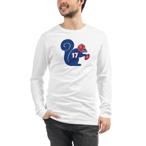 Buffalo Bills Mafia Football Squirrel 17 - Josh Allen - Unisex Long Sleeve Tee