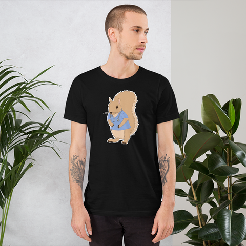 Squirrel Wearing Scrubs - Short-Sleeve Unisex T-Shirt
