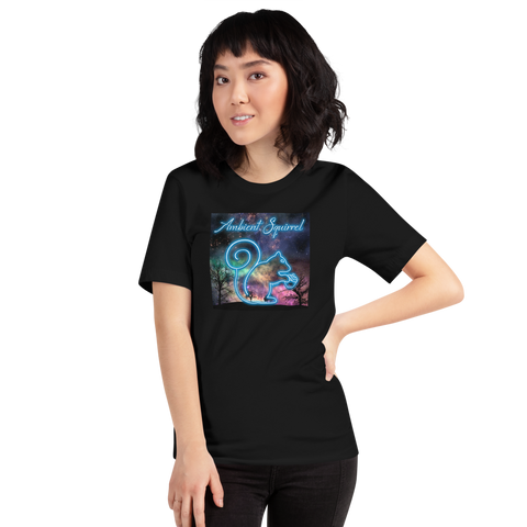 Ambient Squirrel - Music Logo - Black Short-Sleeve Unisex T-Shirt