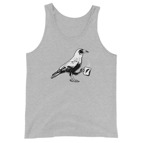 Raven Holding Coffee Cup - Unisex Tank Top