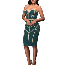 Load image into Gallery viewer, 2019 New Summer Women Spaghetti Strap Bandage Sexy  Dress Sexy  Club Vestido Patchwork Party Dresses Sleeveless Bodycon Dress