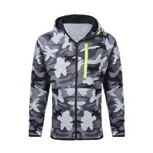 Load image into Gallery viewer, Laamei Men Causal Camouflage Print sets Camo Jacket+Pants 2Pc Tracksuit Sportwear  Hoodies Sweatshirt &Pant Suit Plus Size