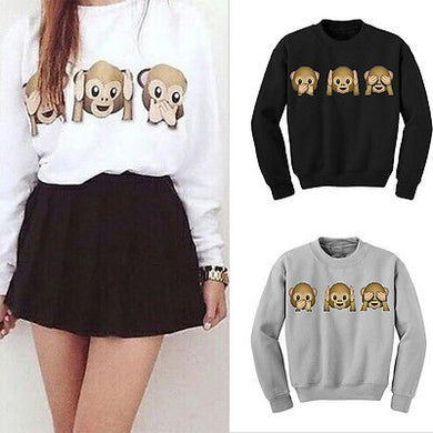 Fashion Casual Womens Pullover Jumper Hoodie Long Sleeve Coat Sweatshirt Top Hot
