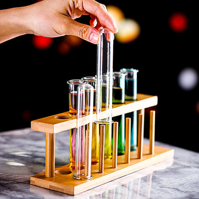 12 Pcs Test Tube Wine Glasses Set Cocktail Cup With Stand Holder Party Bar KTV Night Club Charms Tipsy Test-tube Glass Wholesale