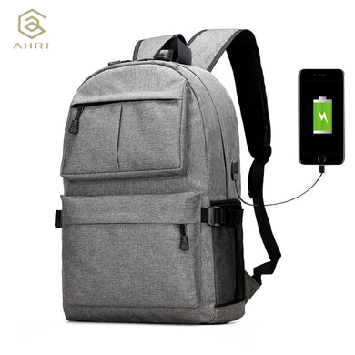AHRI USB Unisex Design Backpack Book Bags for School Backpack Casual Rucksack Daypack Oxford Canvas Laptop Fashion Man Backpacks