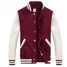 Load image into Gallery viewer, Men/Women Bomber Jacket 2016 Autumn Fashion Wine Red Baseball Jacket Casual Brand Cotton Varsity Jacket Bombers Blouson Homme