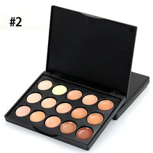 Load image into Gallery viewer, Popfeel Professional MIni 15 Colors Face Concealer Camouflage Cream Contour Palette 2U914