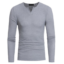Load image into Gallery viewer, Helisopus Men V-neck Sweaters Long Sleeve Pullover Stretch Shirts Casual Jumper Men 2018 Autumn Winter Knitting Sweater