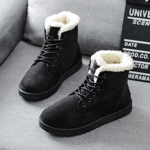 Women Boots Warm Winter Women Shoes Plus Size Female Faux Suede Ankle Boot For Woman Botas Mujer Plush Ladies Snow Boots WSH3132
