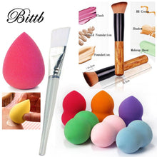 Load image into Gallery viewer, Bittb Makeup Set Cosmetic Foundation Facial Soft Sponge Puff Wooden Make Up Brush Powder Craeam Brushes Beauty Tools Kit