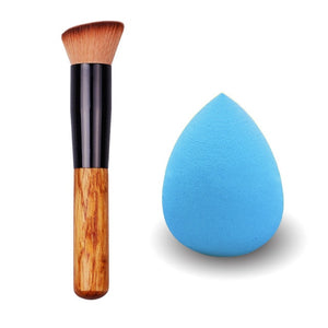 Bittb Makeup Set Cosmetic Foundation Facial Soft Sponge Puff Wooden Make Up Brush Powder Craeam Brushes Beauty Tools Kit