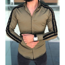 Load image into Gallery viewer, Plain Men Formal Shirts Business Dress Wedding Long Sleeve Slim Fit Top Patchwork HOT