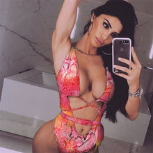 Load image into Gallery viewer, Sexy One Piece Women Swimsuit Bathing Suit Bandage Leopard Beach Swim Wear Swimwear Swimming Suit For Women Bikini Badpak 2019