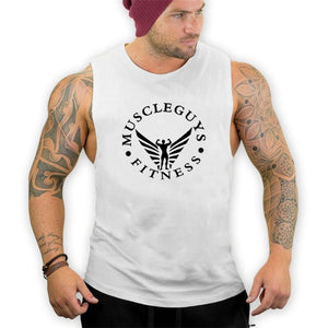 Muscleguys Brand Bodybuilding Stringer Tank Tops Men Fitness Singlets Gyms Clothing Mens Sleeveless Shirt Vest