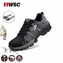 Load image into Gallery viewer, MWSC Summer Man Safety Shoes Breathable Work Shoes for Men Work Mesh Boots Steel Toe Cap Protection Shoes Construction Shoe