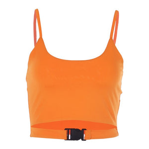 Women Sexy Camisole Neon Green Halter Cropped Top Fashion Camis Vest 2019 Summer Female Bandage Tank Top Bralette Top Femme