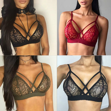 2019 Sexy Lace Bra Tops Women Bustier Bra Floral Lace Sheer Bandage Patch Bralette Unpadded Bra Wiree Lingerie Summer