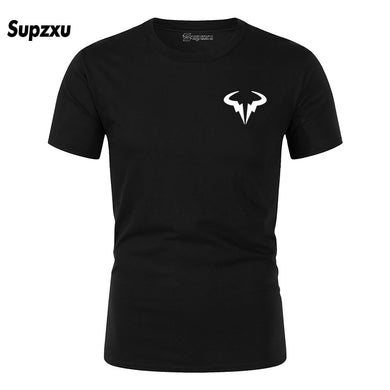 2019 Summer New Printed Cotton Casual Short Sleeve Big Yards T Shirt Men Rafaels Nadal Natto Bull T-shirt Top Tees Plus Size