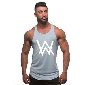 Men Fitness Singlet Sleeveless Shirt Cotton Muscle Guys Brand Undershirt for Boy Vest Gyms Clothing Bodybuilding Tank Top