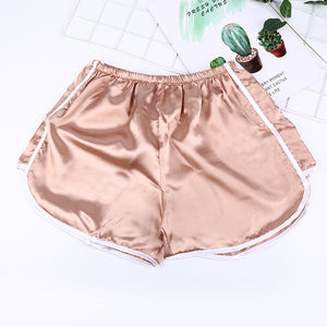 Brief Relate Summer Women Casual Shorts Durable Shorts Fashion Female White Edge Design Rose Gold White Black 3 Colors