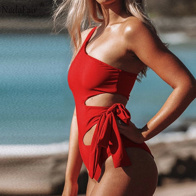 Nadafair One Shoulder Off Bandage Sexy Bodysuit Women Rompers Hollow Out Summer Casual Sexy Body Tops One Female Streetwear
